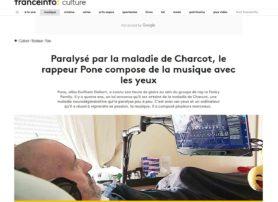 Paralyse par la maladie de Charcot le rappeur Pone compose de musique avec les yeux francetv info-fr-culture