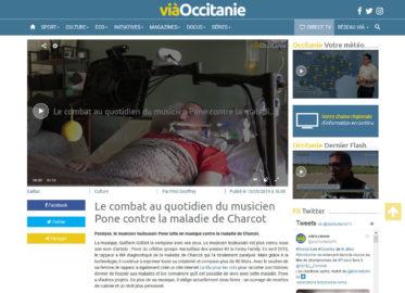 VIAOCCITANIE.TV : Le combat au quotidien du musicien Pone contre la maladie de Charcot